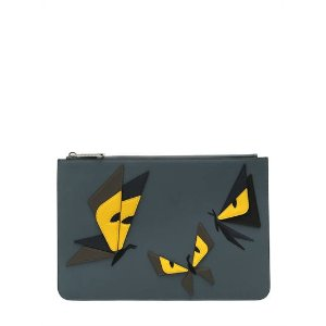MONSTER BUTTERFLY LEATHER POUCH
