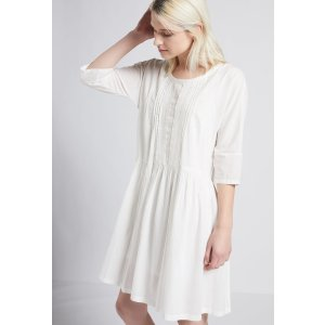 Women's THE LACEY DRESS WITH SLIP of 100% COTTON / Machine Wash Imported | Women's Sale by CURRENT/ELLIOTT