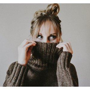 ASTR Stacy T-neck Side Slit Sweater