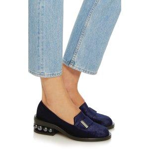 Casati Embellished Velvet Loafers