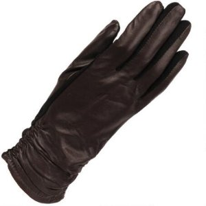 WOMEN'S WILSONS LEATHER TOUCH POINT ROUCHED GLOVE W/ FLEX FIT AND FOURCHETTE