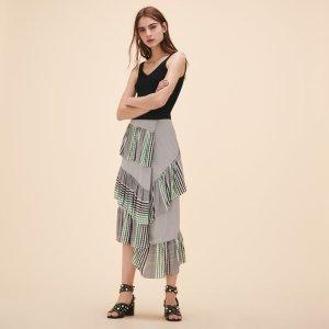 JOMO Midi frilled skirt - Skirts & Shorts - Maje.com