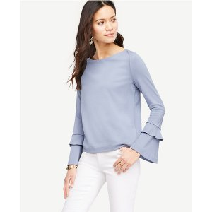 Double Flare Sleeve Top | Ann Taylor