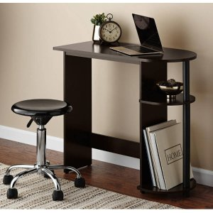 $19.88Mainstays Computer Desk with Side Storage, Espresso