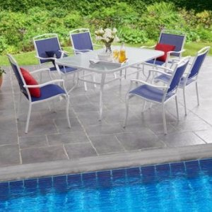 $187Mainstays Sand Dune 7-Piece Sling Dining Set