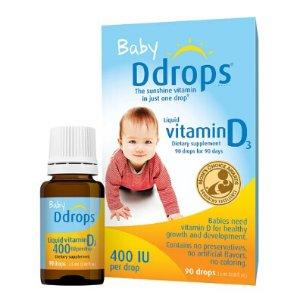 $10.03Ddrops Baby Vitamin D3 Liquid, 400IU, 90 Ct