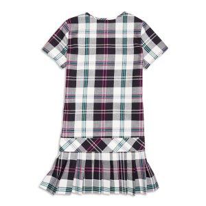 Girls' Short-Sleeve Pleated Plaid Dress   Brooks Brothers