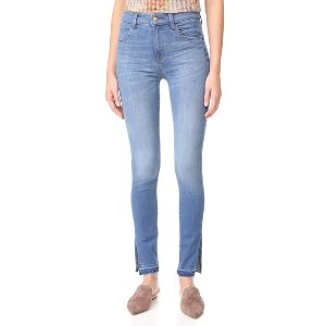 J Brand Maria High Rise Skinny Jeans with Side Slits | SHOPBOP