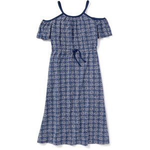 Tie-Waist Cold-Shoulder Dress for Girls | Old Navy