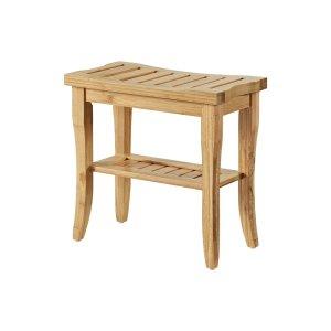 Linon Bracken Bamboo Stool