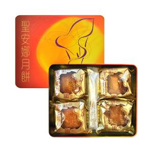 Yamibuy- 香港圣安娜 三黄白莲蓉月饼 礼盒装 4枚入
