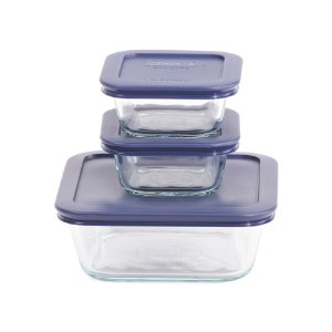 6pc Square Glass Food Storage Set - Kitchen & Dining Room - T.J.Maxx