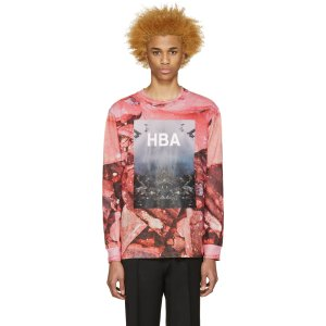 Hood by Air: Pink Overcome T-Shirt