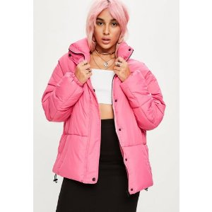 Missguided - Pink Ultimate Oversized Puffer Jacket