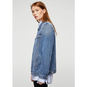 Medium wash denim jacket -  Women | MANGO USA