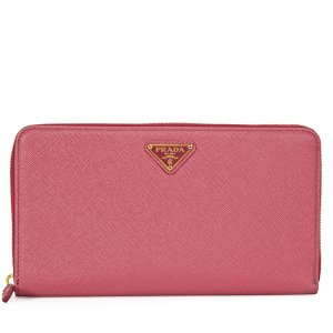 Triangolo Saffiano Leather Wallet - Peonia