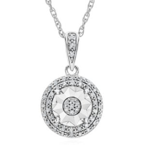 $201/10 CT. T.W. Diamond Studs or Pendant In Sterling Silver @ JCPenney