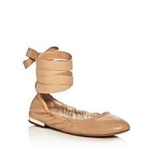 Sam Edelman Fallon Ankle Tie Ballet Flats