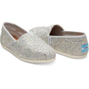 Silver Lace Glitz Women's Classics | TOMS®