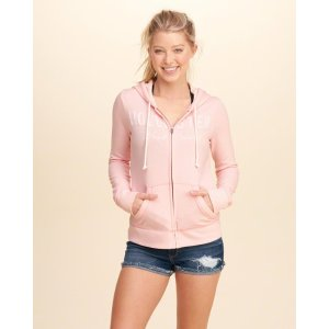 Girls Lace Applique Logo Graphic Hoodie | Girls Clearance | HollisterCo.com