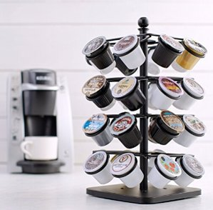 AmazonBasics Coffee Storage Carousel for K-Cup Pods - 32 Pod Capacity