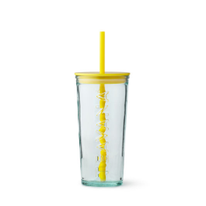 Yellow Glass Cold Cup