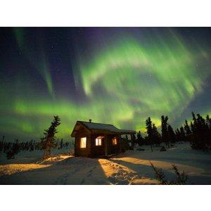One Day Tour to Fairbanks, Aurora Borealis Cabin etc.