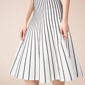 JIBRALTO Striped knit midi skirt - Skirts & Shorts - Maje.com