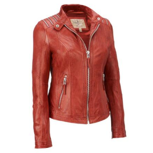 Wilsons Leather Vintage Genuine Leather Jacket w/ Shoulder Zippers - Short - Women's & Plus Size - Wilsons Leather
