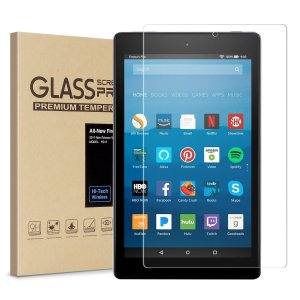 $4Kindle Fire 7 Screen Protector,Tempered Glass Screen Protector Film