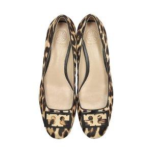 Tory Burch Gigi Natural Leopard Print Leather Mid-heel Pumps