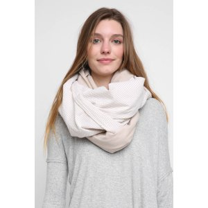 Donni Charm Sand Diagonal Stripe Oversized Scarf | South Moon Under
