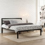 Zinus Modern Studio Black King Platform Bed