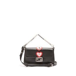 Micro Baguette heart-appliqué cross-body bag | Fendi