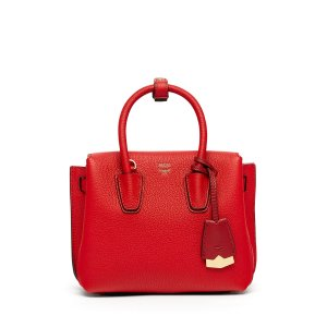 Mini Milla Tote in Ruby Red by MCM