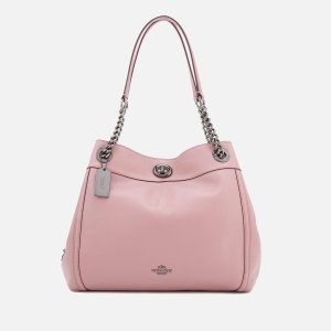 Coach Women's Turnlock Edie Tote Bag - Dusty Rose - Free UK Delivery over £50