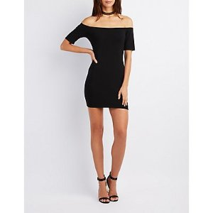 Off-The-Shoulder Bodycon Dress | Charlotte Russe
