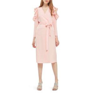 Topshop Ruffle Cold Shoulder Wrap Dress | Nordstrom