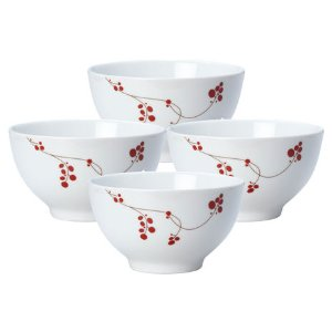 Buy Red Berries Set of 4 Cereal Bowls online at Mikasa.com