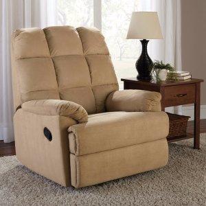 $117.89包邮Mainstays可躺式布艺单人沙发(浅棕色)