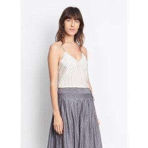 Monotone Striped Silk Cami