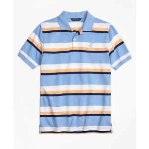 Large Stripe Polo Shirt - Brooks Brothers