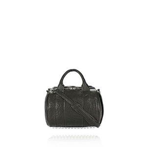 MINI ROCKIE IN PEBBLED BLACK WITH ANTIQUE BRASS | Shoulder Bag