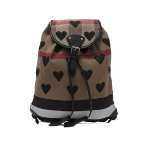Burberry Canvas Check Hearts Medium Chiltern Backpack