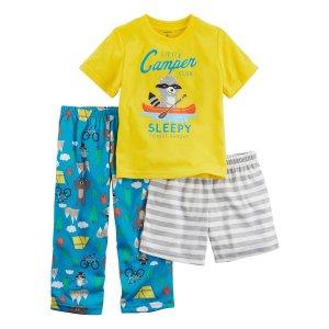 Carter's® Boys' 2T-12 3-Piece Little Camper Pajama Set