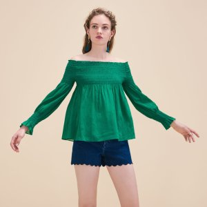 LAFYR Top with smocking - Tops & T-Shirts - Maje.com
