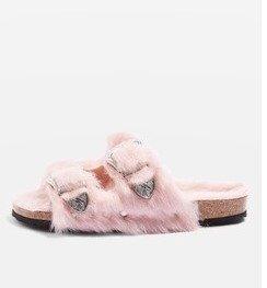 $75FALCON Furry Sandals @ TopShop