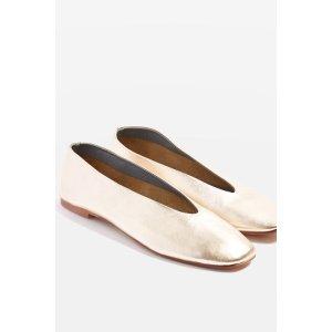 KICK Soft Leather Ballet Pumps