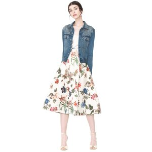 Chloe Studded Denim Jacket | Alice + Olivia