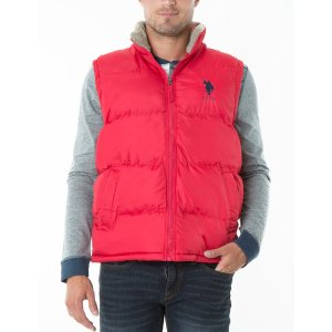 SIGNATURE VEST With SHERPA COLLAR - U.S. Polo Assn.
